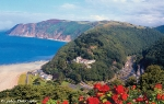 Lynmouth and The Captain\'s House from Lynton