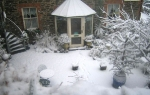 Snow at the Captain's House